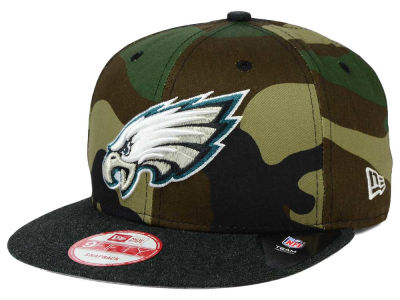 Philadelphia Eagles New Era NFL Camo Heather 9FIFTY Snapback Cap
