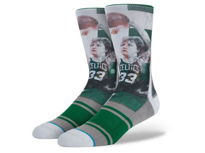 Boston Celtics Larry Bird Stance Ink Legend Player Socks