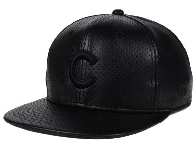 Chicago Cubs New Era MLB Black on Black Perforated 9FIFTY Snapback Cap