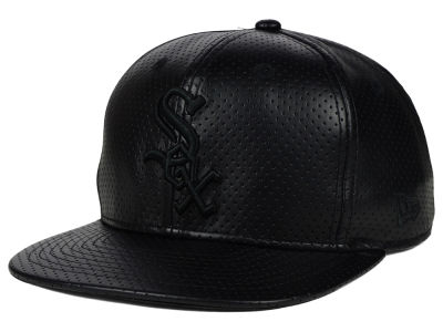 Chicago White Sox New Era MLB Black on Black Perforated 9FIFTY Snapback Cap