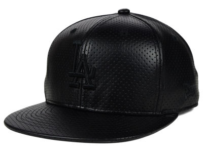 Los Angeles Dodgers New Era MLB Black on Black Perforated 9FIFTY Snapback Cap