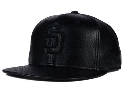 San Diego Padres New Era MLB Black on Black Perforated 9FIFTY Snapback Cap
