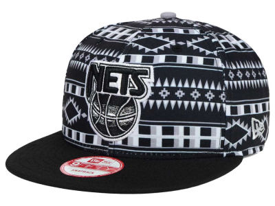 New Jersey Nets New Era NBA HWC Tri-All Print 9FIFTY Snapback Cap