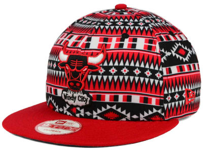 Chicago Bulls New Era NBA HWC Tri-All Print 9FIFTY Snapback Cap