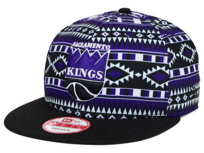 Sacramento Kings New Era NBA HWC Tri-All Print 9FIFTY Snapback Cap