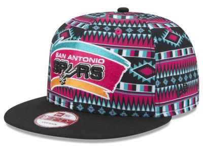 San Antonio Spurs New Era NBA HWC Tri-All Print 9FIFTY Snapback Cap