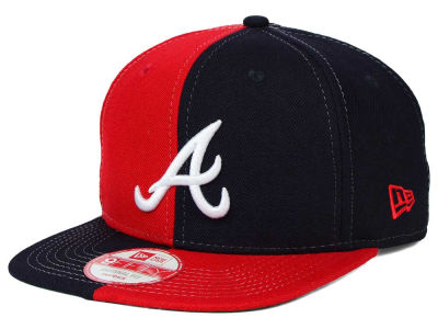 Atlanta Braves New Era MLB Double Splitem 9FIFTY Snapback Cap