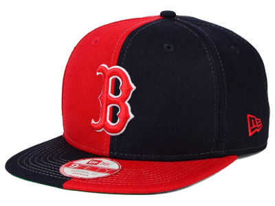 Boston Red Sox New Era MLB Double Splitem 9FIFTY Snapback Cap