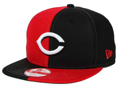 Cincinnati Reds New Era MLB Double Splitem 9FIFTY Snapback Cap