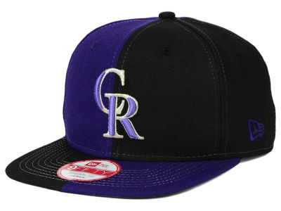 Colorado Rockies New Era MLB Double Splitem 9FIFTY Snapback Cap