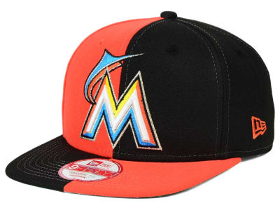 Miami Marlins New Era MLB Double Splitem 9FIFTY Snapback Cap