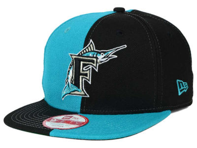 Florida Marlins New Era MLB Double Splitem 9FIFTY Snapback Cap