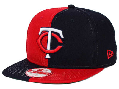 Minnesota Twins New Era MLB Double Splitem 9FIFTY Snapback Cap