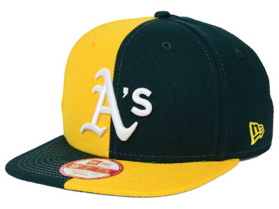 Oakland Athletics New Era MLB Double Splitem 9FIFTY Snapback Cap