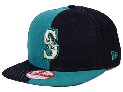 Seattle Mariners New Era MLB Double Splitem 9FIFTY Snapback Cap