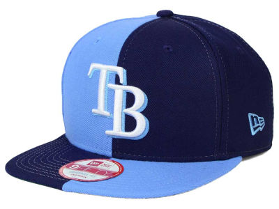 Tampa Bay Rays New Era MLB Double Splitem 9FIFTY Snapback Cap
