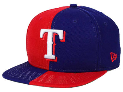 Texas Rangers New Era MLB Double Splitem 9FIFTY Snapback Cap