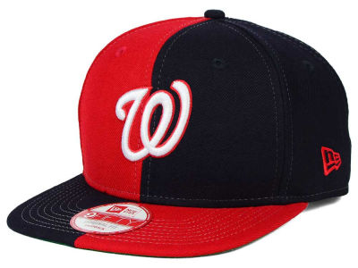 Washington Nationals New Era MLB Double Splitem 9FIFTY Snapback Cap
