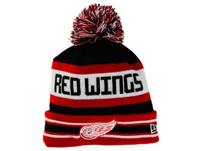 Detroit Red Wings New Era NHL Team Color Jake Pom Knit
