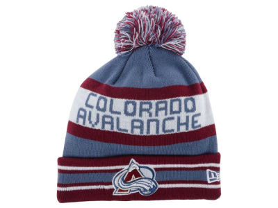 Colorado Avalanche New Era NHL Team Color Jake Pom Knit