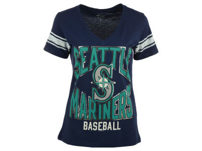 Seattle Mariners MLB Women's Home Plate Foil T-Shirt