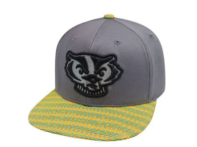 Wisconsin Badgers Top of the World NCAA 2 Fly Snapback Cap
