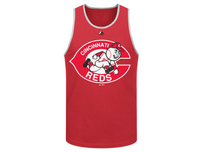 Cincinnati Reds Majestic MLB Men's Skill Test Tank
