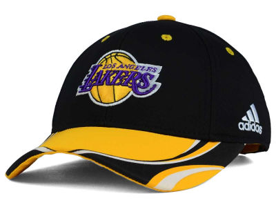 Los Angeles Lakers adidas NBA Youth Above the Rim Adjustable Cap