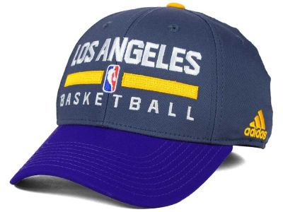 Los Angeles Lakers adidas NBA 2015 Practice Flex Cap