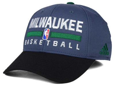 Milwaukee Bucks adidas NBA 2015 Practice Flex Cap