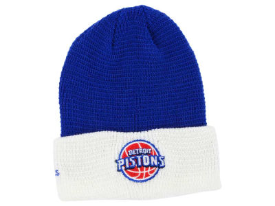 Detroit Pistons adidas NBA 2015 Authentic Team Cuffed Knit
