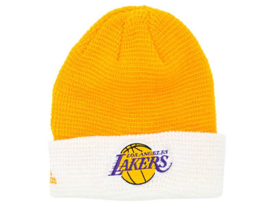 Los Angeles Lakers adidas NBA 2015 Authentic Team Cuffed Knit
