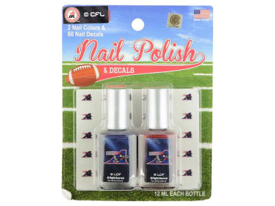 Montreal Alouettes CFL Nail Polish & Decals