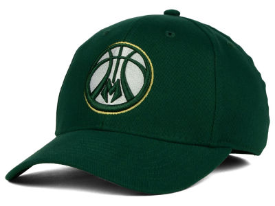 Milwaukee Bucks adidas NBA 2015 Logo Release Flex Cap