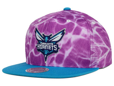 Charlotte Hornets Mitchell and Ness NBA Color Surf Camo Snapback Cap