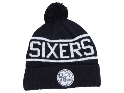 Philadelphia 76ers Mitchell and Ness NBA Reflective Patch Knit