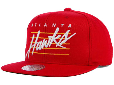 Atlanta Hawks Mitchell and Ness NBA Cursive Retro Snapback Cap