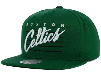 Boston Celtics Mitchell and Ness NBA Cursive Retro Snapback Cap