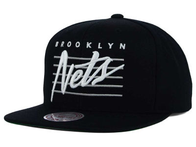 Brooklyn Nets Mitchell and Ness NBA Cursive Retro Snapback Cap