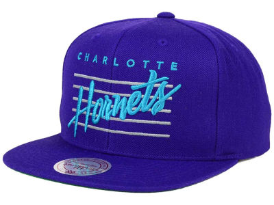Charlotte Hornets Mitchell and Ness NBA Cursive Retro Snapback Cap
