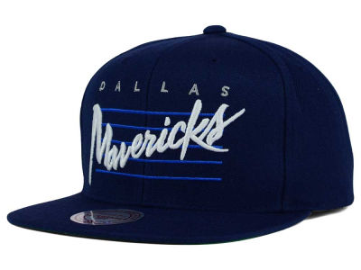 Dallas Mavericks Mitchell and Ness NBA Cursive Retro Snapback Cap