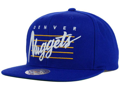 Denver Nuggets Mitchell and Ness NBA Cursive Retro Snapback Cap