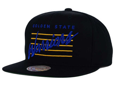 Golden State Warriors Mitchell and Ness NBA Cursive Retro Snapback Cap