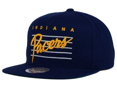 Indiana Pacers Mitchell and Ness NBA Cursive Retro Snapback Cap