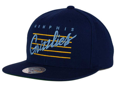 Memphis Grizzlies Mitchell and Ness NBA Cursive Retro Snapback Cap