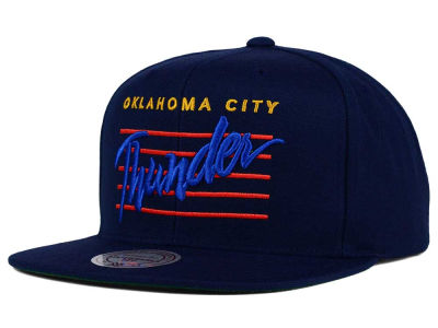 Oklahoma City Thunder Mitchell and Ness NBA Cursive Retro Snapback Cap