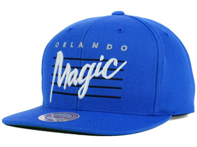 Orlando Magic Mitchell and Ness NBA Cursive Retro Snapback Cap