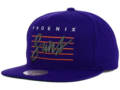 Phoenix Suns Mitchell and Ness NBA Cursive Retro Snapback Cap
