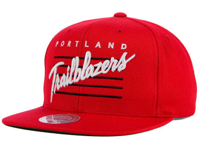 Portland Trail Blazers Mitchell and Ness NBA Cursive Retro Snapback Cap