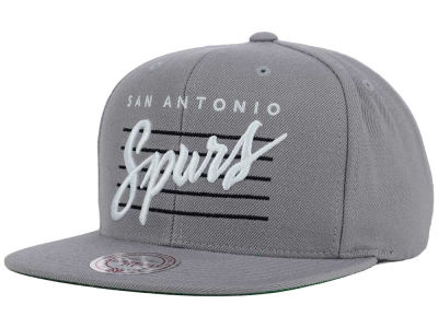 San Antonio Spurs Mitchell and Ness NBA Cursive Retro Snapback Cap